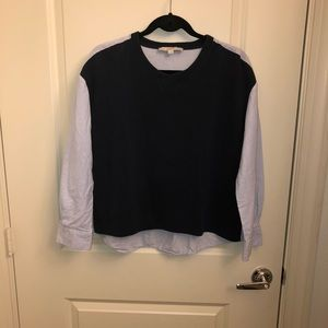 LOFT: Dual Colored Jacket Shirt
